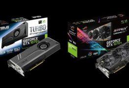 الكشف عن بطاقة ROG Strix/Turbo GTX 1070 Ti من ASUS