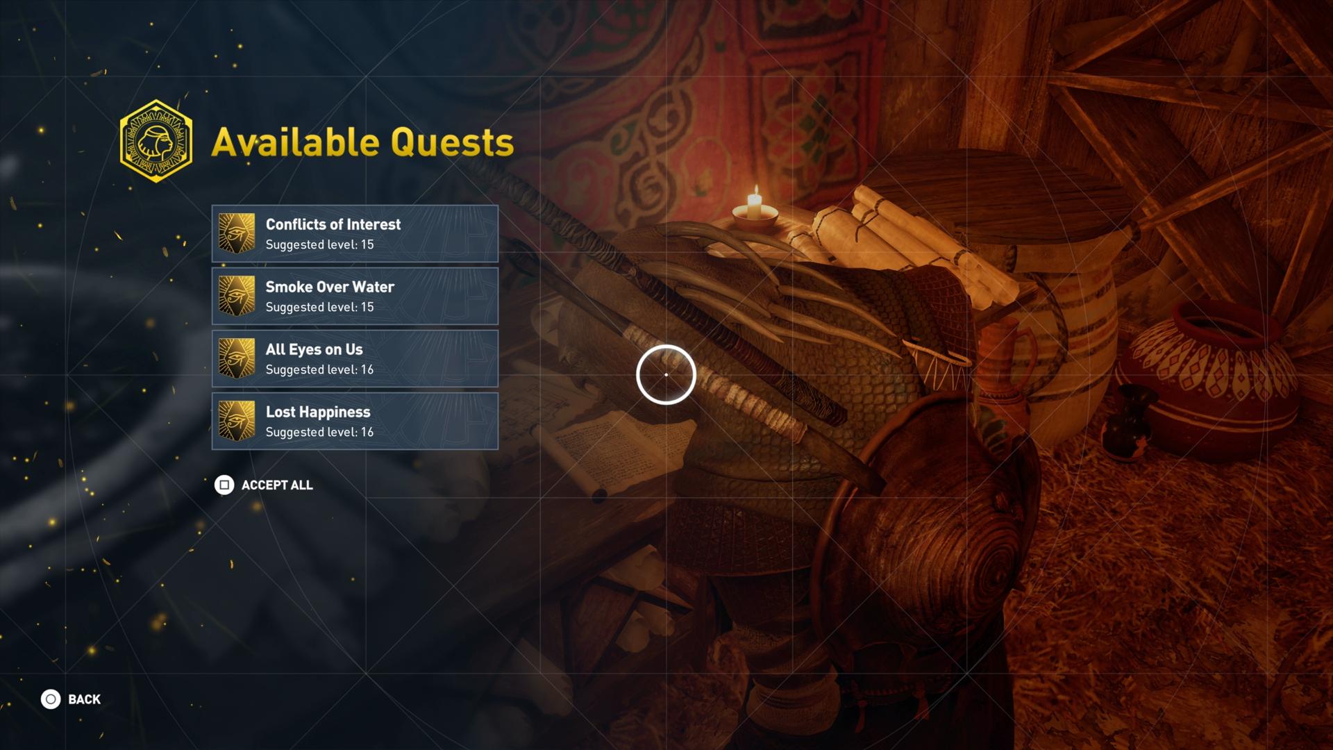 حسن مستواك بسرعة في Assassin's Creed Origins