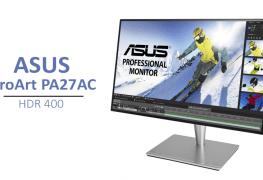 الكشف عن شاشة المصممين ASUS ProArt PA27AC HDR 400