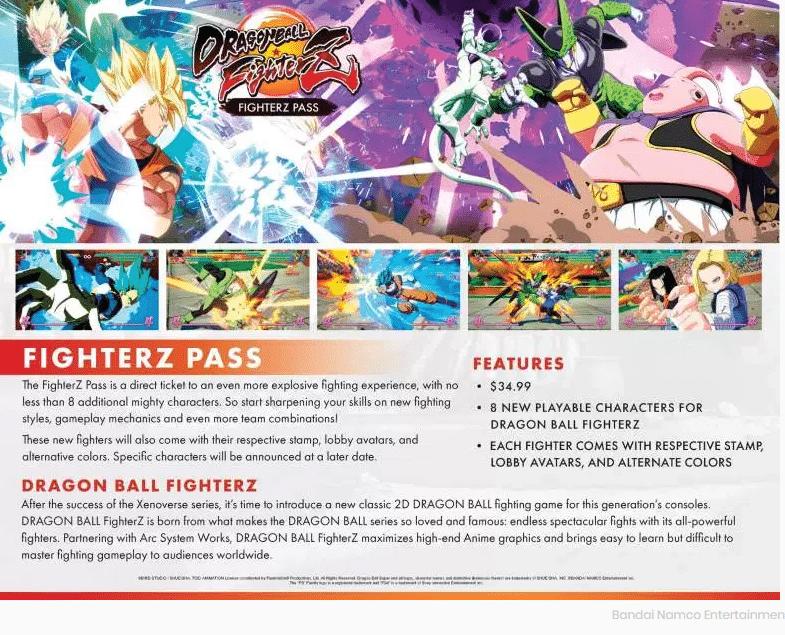 dragon ball FighterZ Season Pass FighterZ