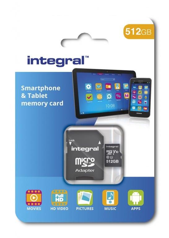 شركة Integral تكشف النقاب عن بطاقة ذاكرة خارجية بسعة 512GB