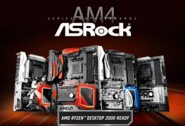 لوحات ASRock بسوكيت AM4 تدعم رسمياً معالجات Ryzen 2000 APU