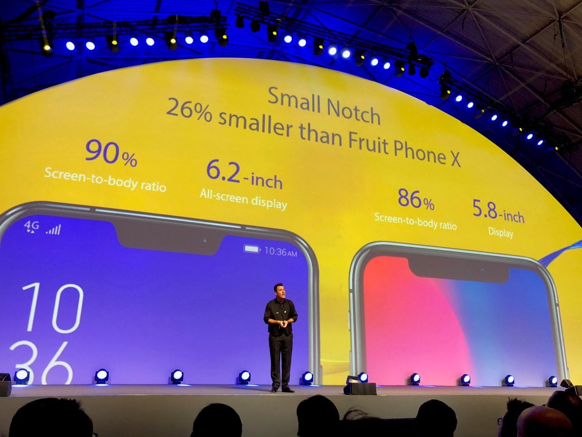 Zenfone 5 notch compared to Iphone x