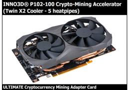 ظهور بطاقة Inno3D P102-100 بقوة تعدين تتجاوز بطاقة TITAN Xp!