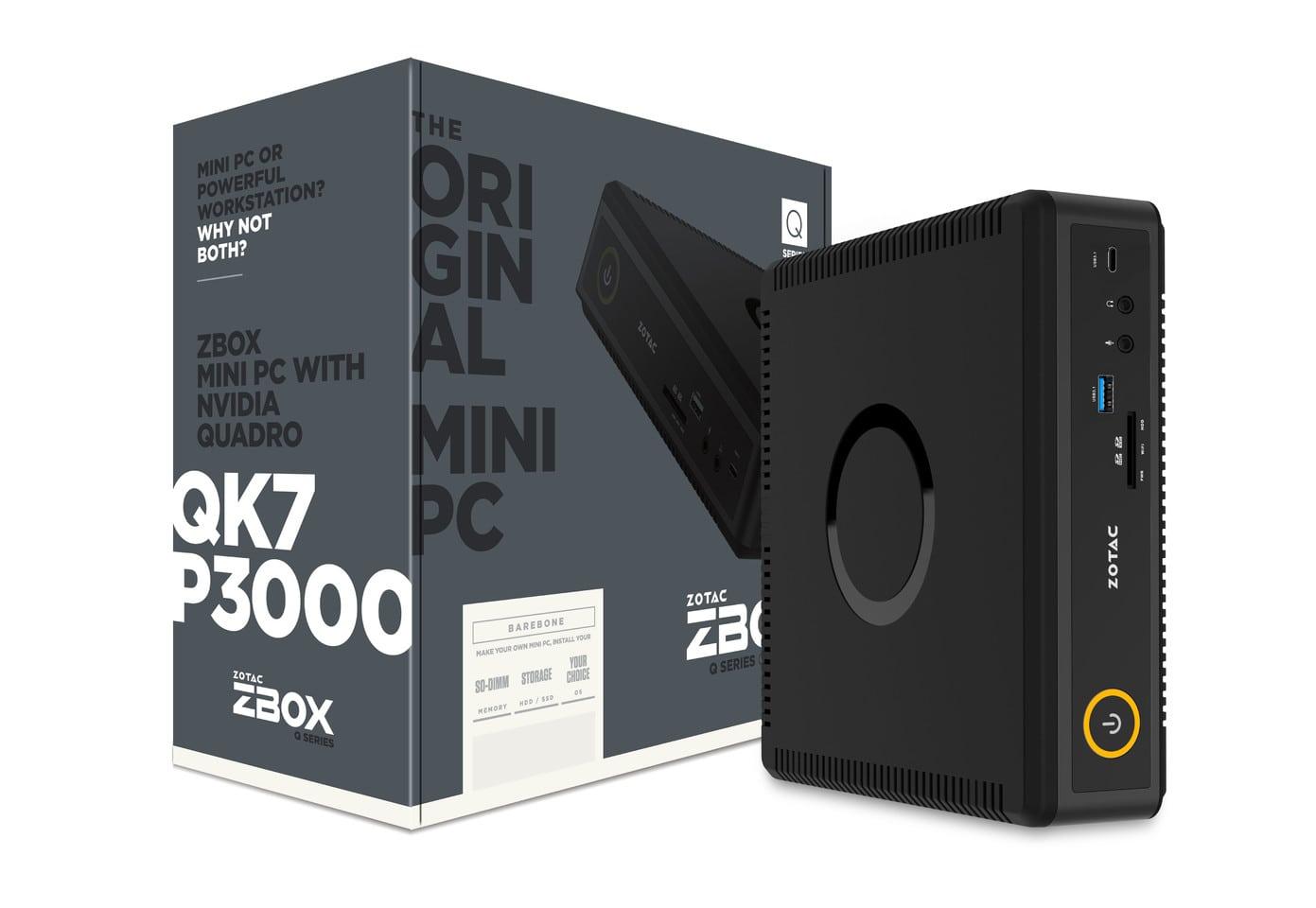 أحد اصدارات ZBOX Q-Series. يبدو أنها ببطاقة NVIDIA Quadro P3000