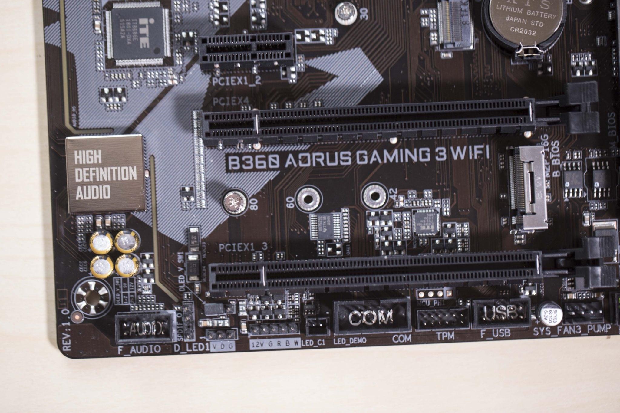 مراجعة اللوحة Gigabyte B360 AORUS GAMING 3 WIFI بالشريحة الجديدة