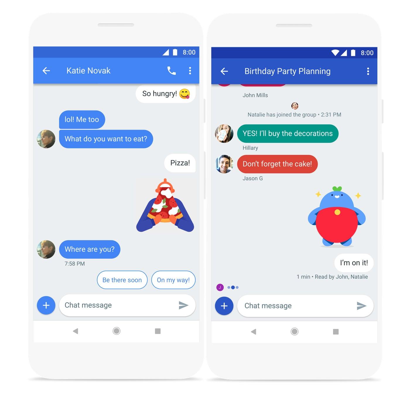 خدمة المراسلات النصية الجديدة من جوجل google chat