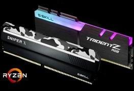 الكشف عن ذواكر G.SKILL Trident Z RGB/Sniper X المتوافقة مع معالجات Ryzen 2000