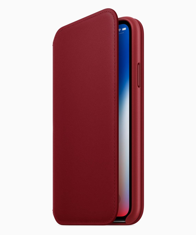 حافظة لهاتف iPhone X من الجلد ماركة Folio