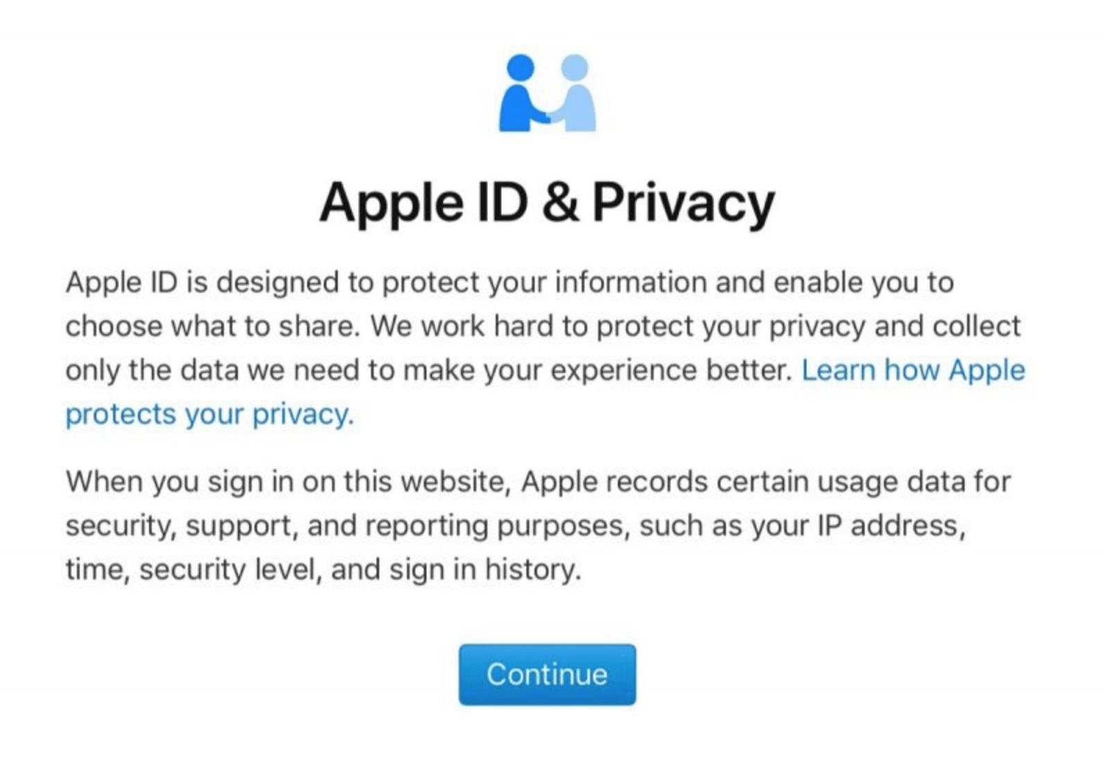 Apple privacy portal ، أبل