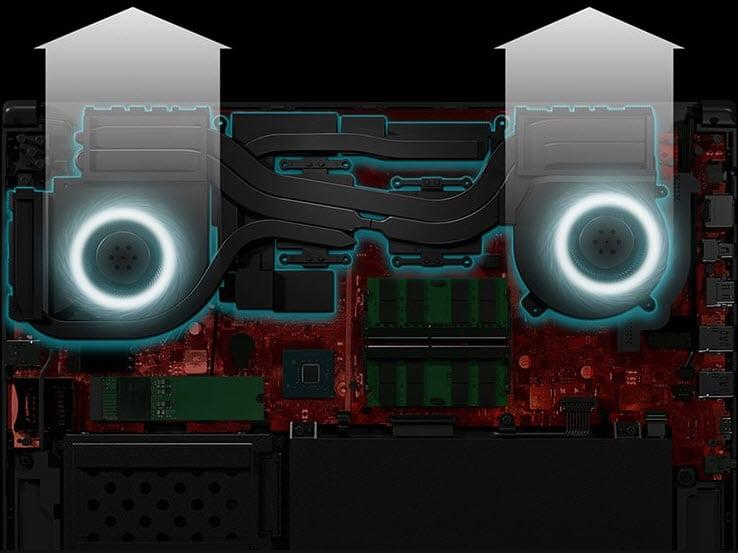 ASUS ROG SCAR II Cooling