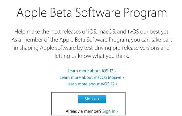 الإصدار التجريبي العام من iOS 12