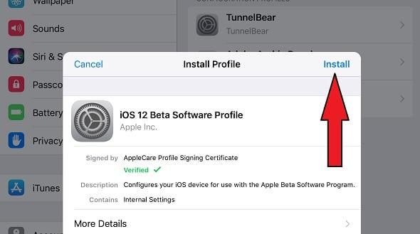 النسخة التجريبية العامة من iOS 12  ، الإصدار التجريبي العام