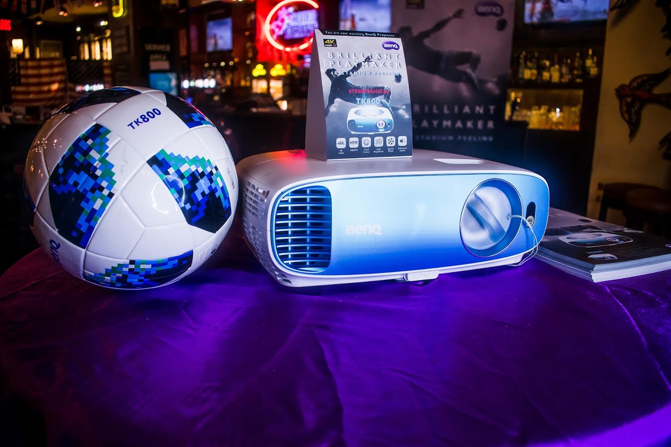 Benq Shwacase TK800 Projector with world cup matches