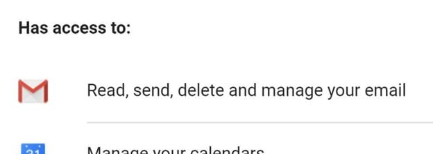 access to message from gmail