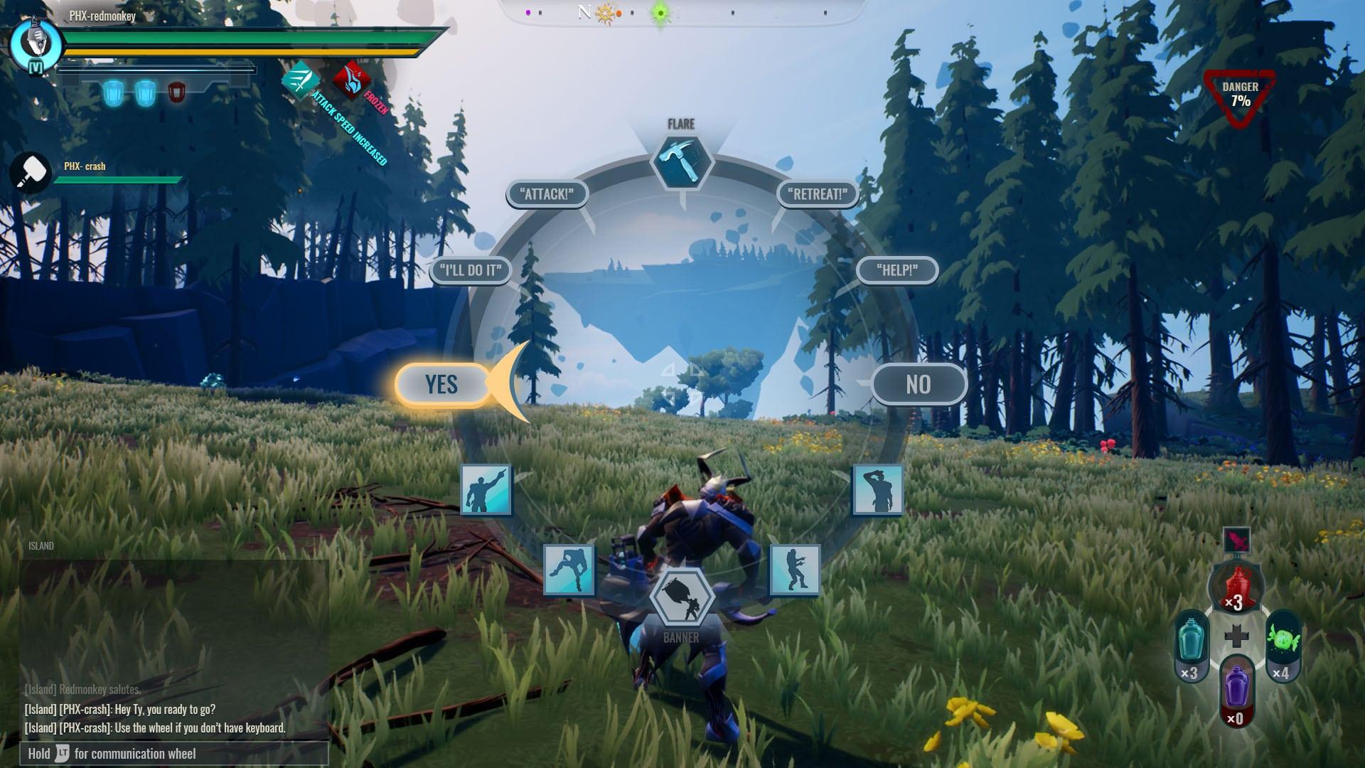 Dauntless in game interactions