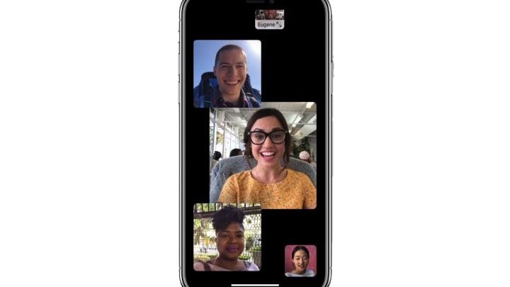 group facetime in IOS12