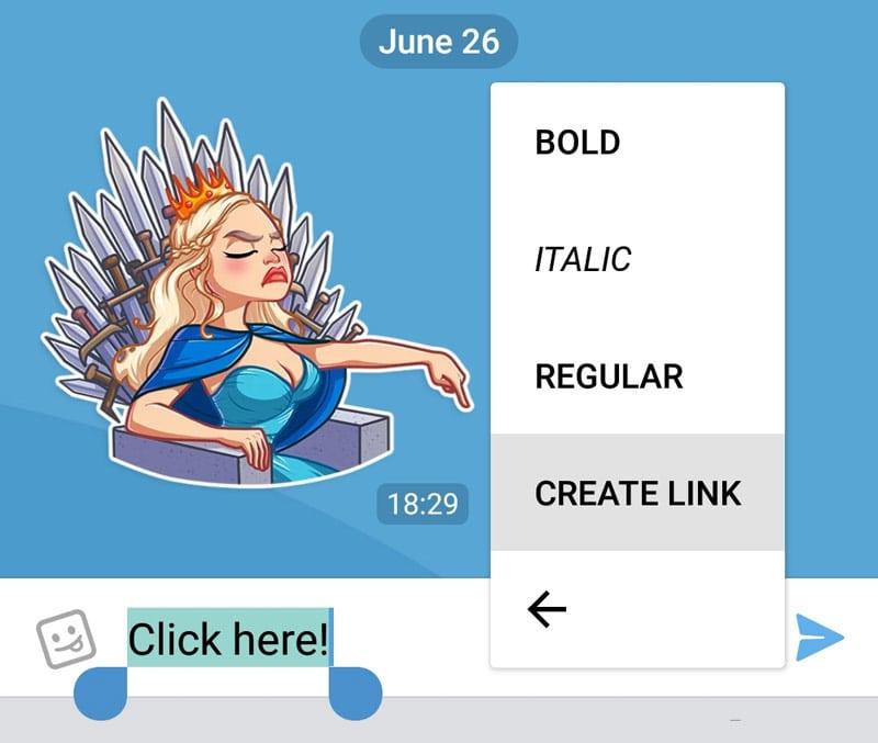 تيليجرام، تحديث تيليجرام ، Telegram