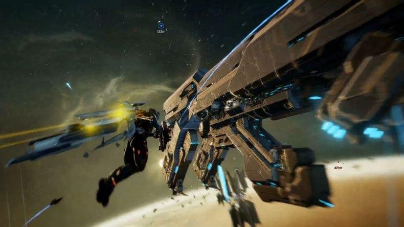 Railjack: new game mode from Warframe