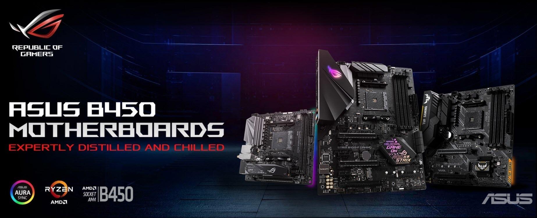 ASUS AMD B450 Series Motherboards