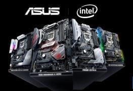64 لوحة ASUS بشرائح Z370/H370/Q370/B360/H310 تدعم معالجات الجيل التاسع من إنتل