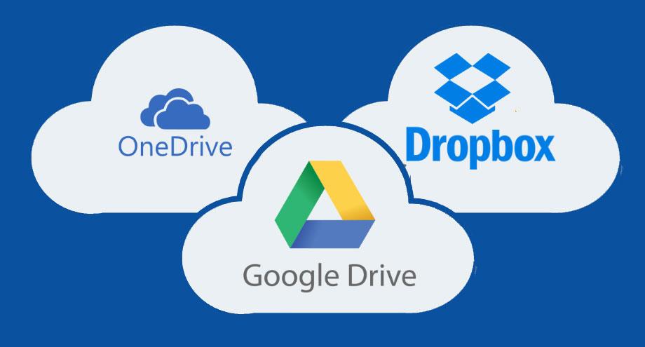 أفضل تطبيقات وخدمات التخزين السحابي Google Drive - OneDrive - DropBox