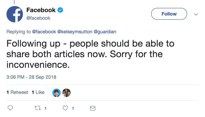 فيسبوك تمنع المستخدمين من نشر حول اختراق 50 مليون حساب