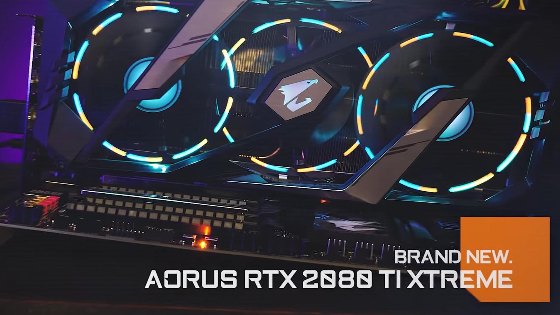 شاهد معنا اولى صور وحش جيجابايت الجديد AORUS RTX 2000 XTREME