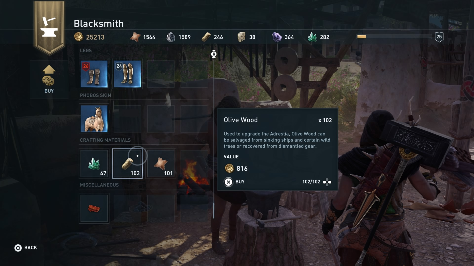 Olive Wood Assassin's Creed Odyssey