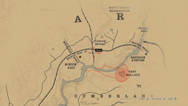 Red dead redemption 2 derailed train Granite Ravine map