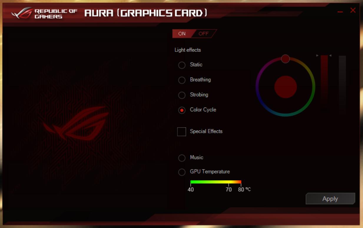 التعليق على البطاقةASUS ROG STRIX RTX 2080 OC