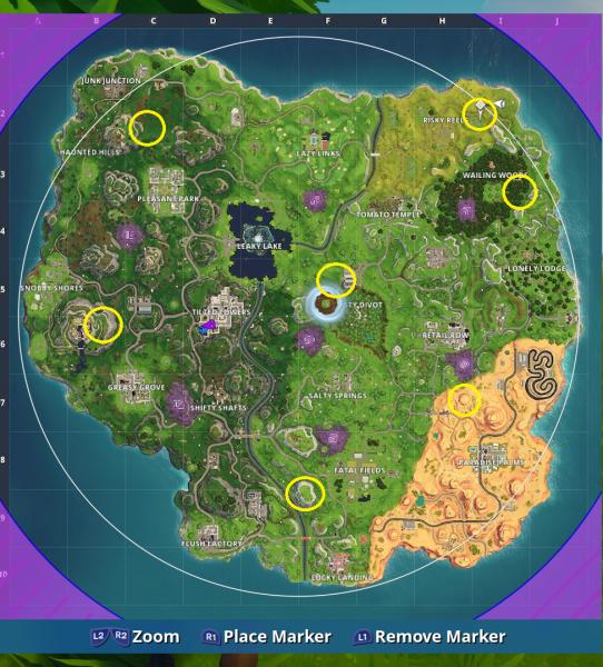 Fortnite Season 6 challenges Shooting Gallery