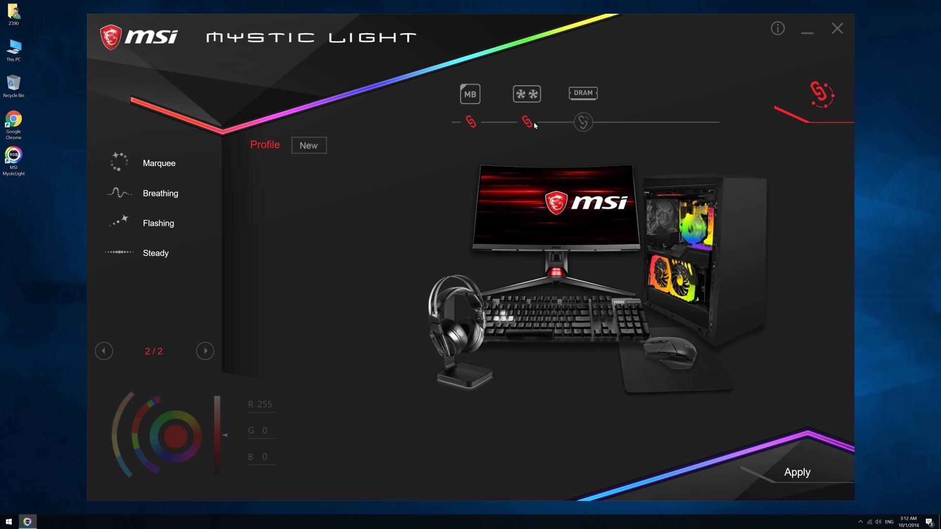 Mystic Light MSI MEG Z390 ACE (1)