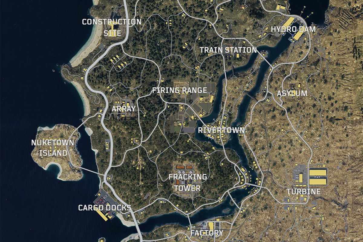 Call of Duty Black Ops 4 Treyarch Blackout Map