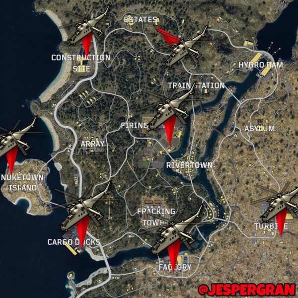 call of duty black ops 4 blackout helicopter locations
