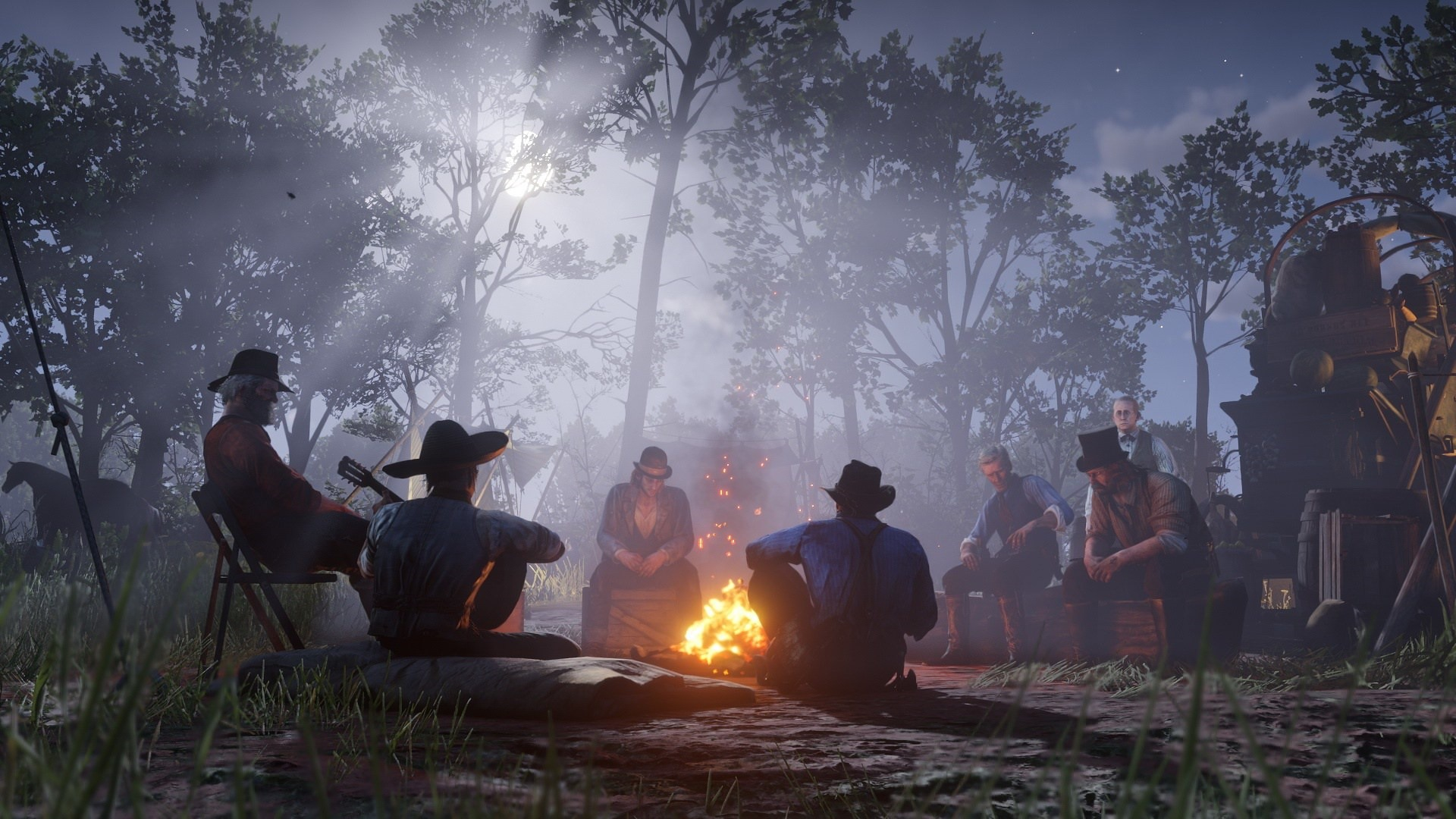 Red Dead Redemption 2 Camp Fire