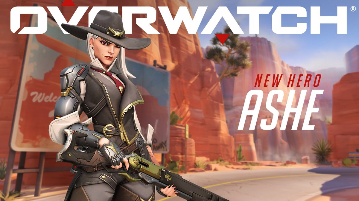 Blizzard Overwatch new Hero Ashe