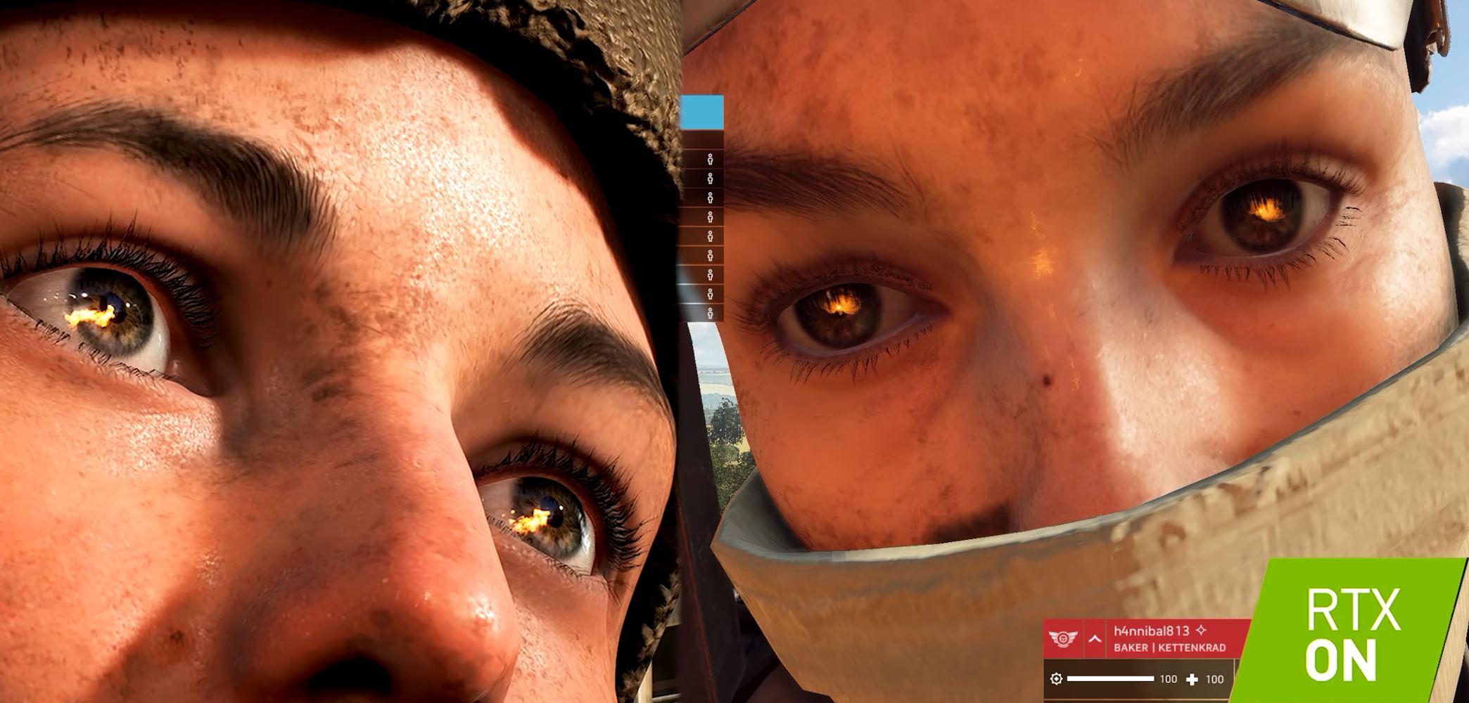 RTX Reflections on eyes