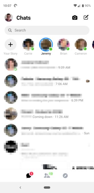 Messenger - واجهة Messenger