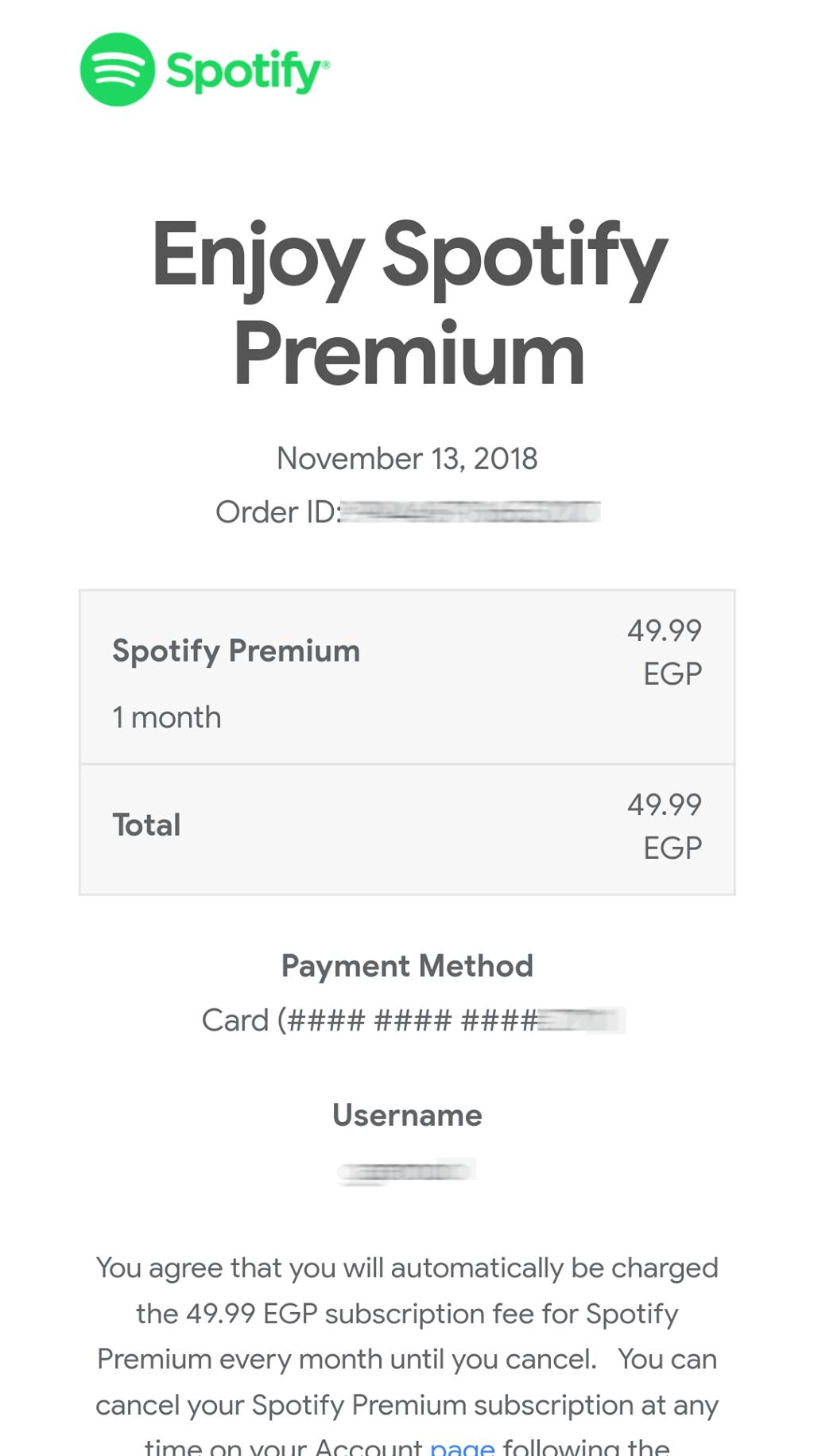 تكلفة Spotify Premium في مصر