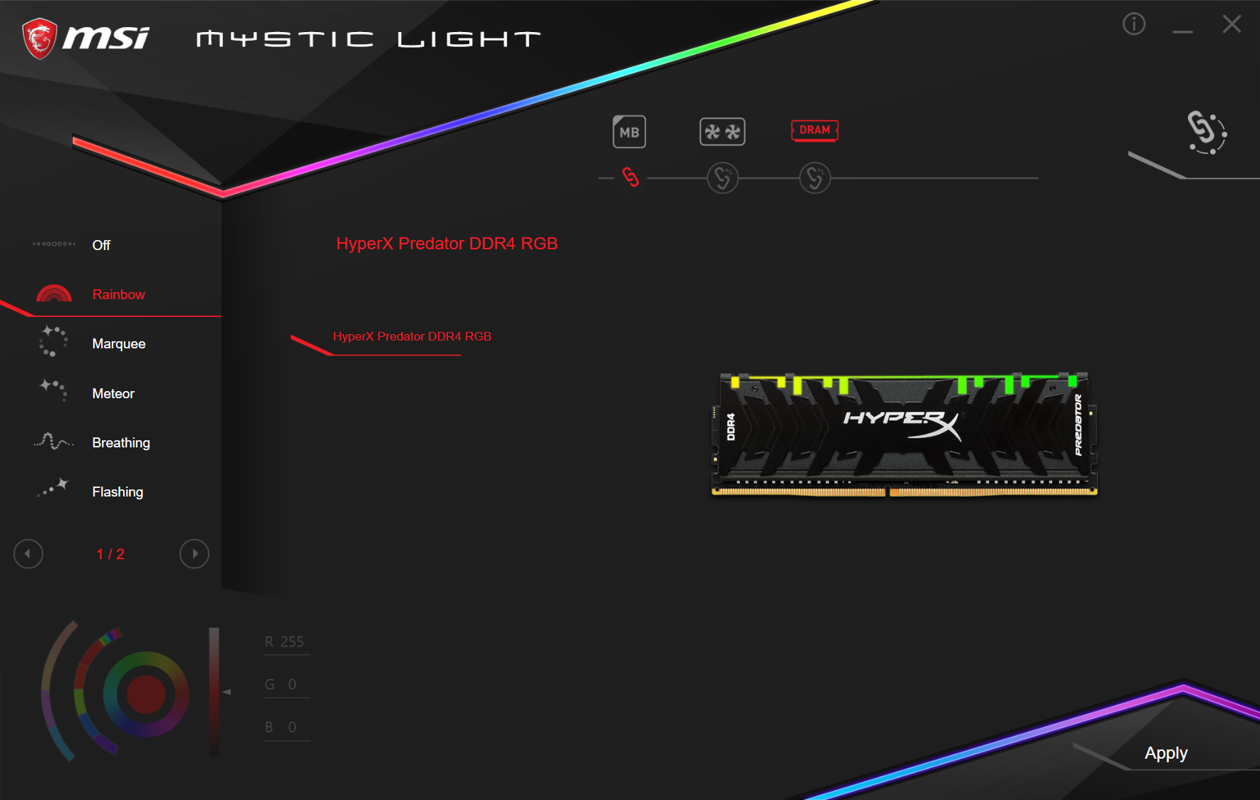 Kingston HyperX Predator RGB RAM - OC (2)