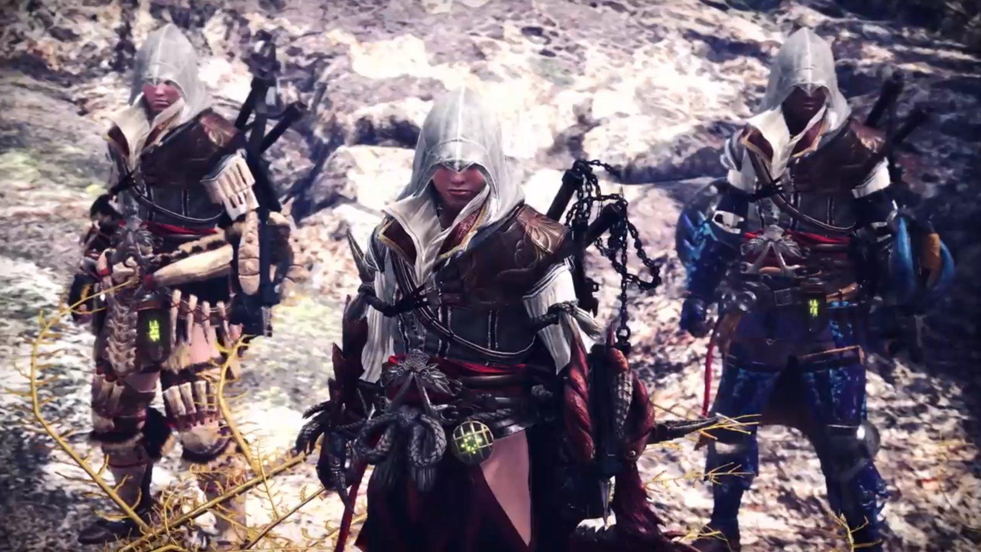 Monster Hunter: World Ezio Bayek assassin's Creed