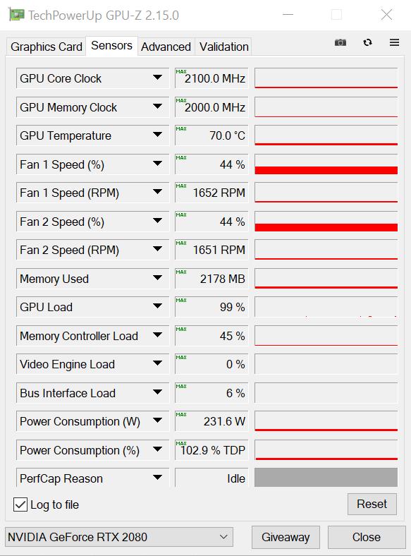 Nvidia Geforce RTX 2080 OC