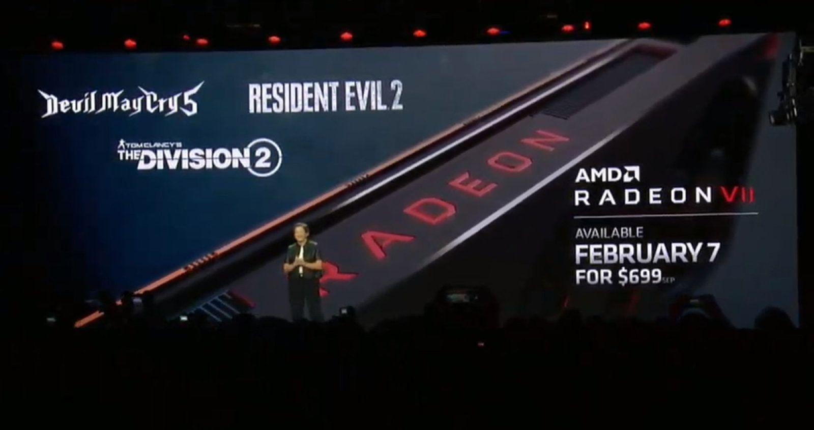 Radeon VII AMD Nvidia RTX 2080 Intel CES 2019