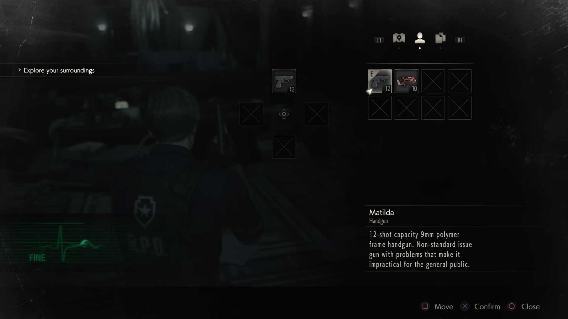 Resident Evil 2 Remake inventory