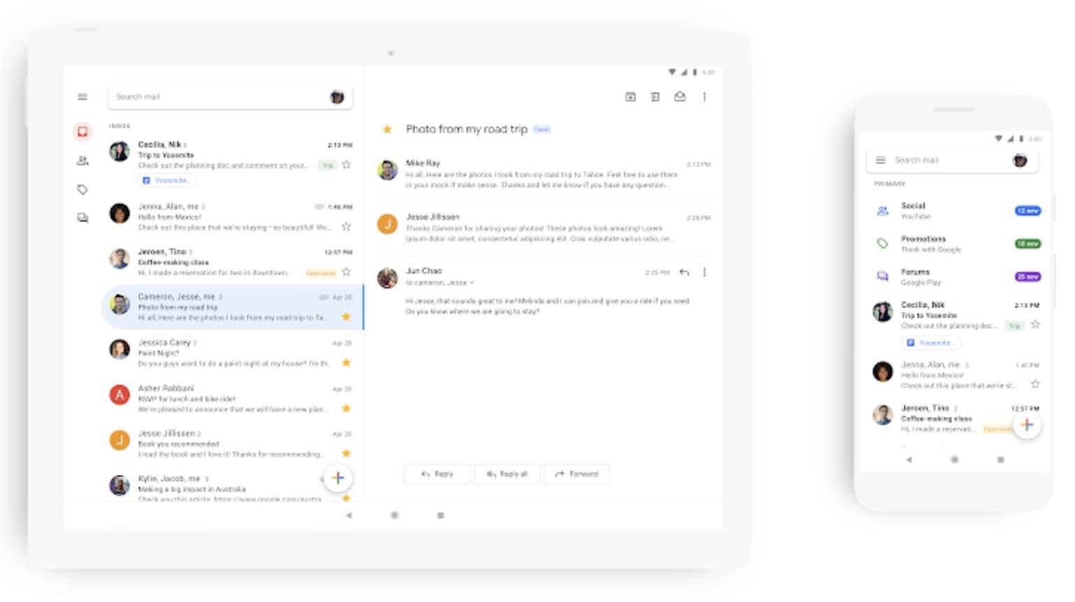 احصل على نظام أندرويد الرسمي – استبدال تطبيق البريد الإلكتروني