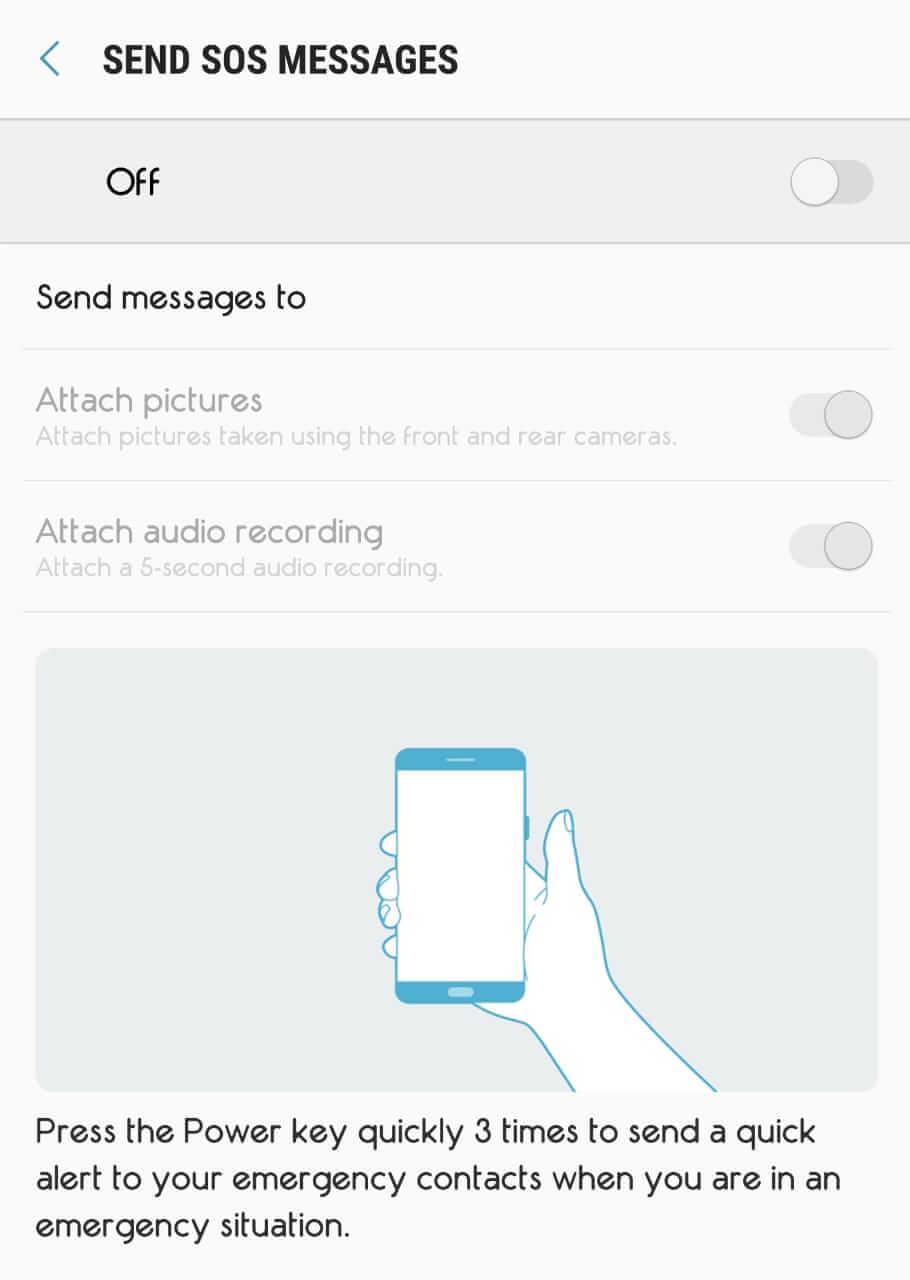 ضبط نمط الطوارئ على نظام Android - هواتف سامسونج