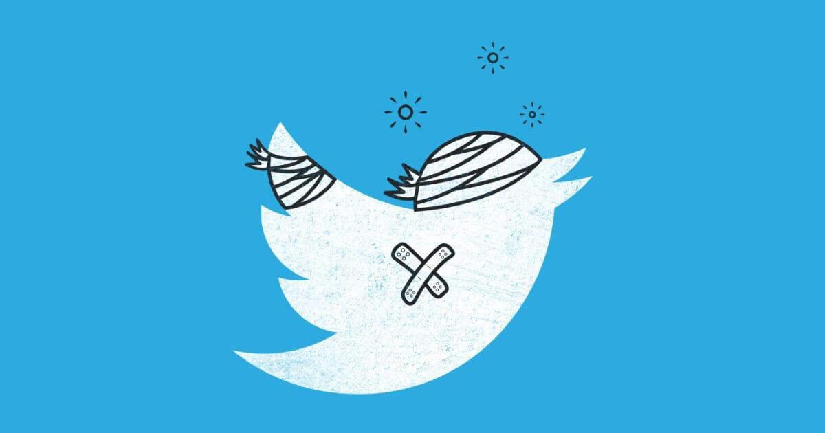 موقع تويتر يواجه عطب في العدادات