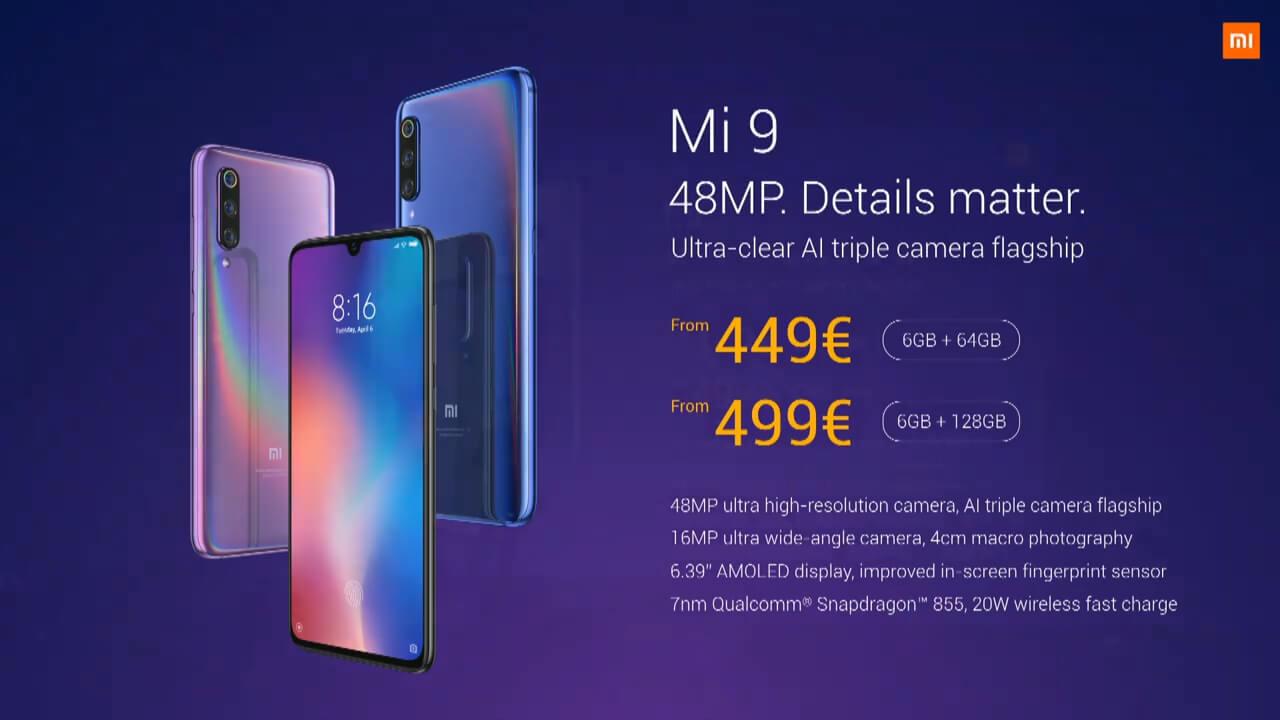 مواصفات هاتف Xiaomi MI 9