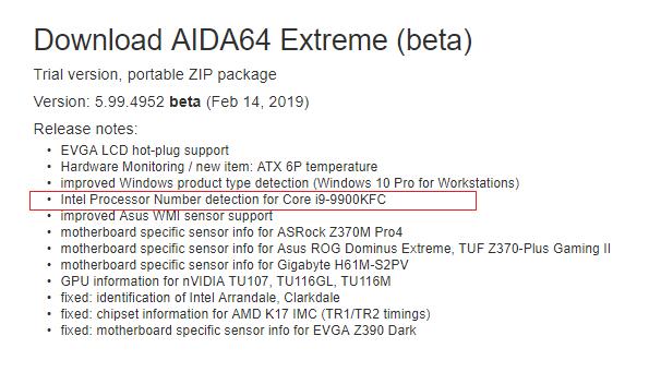 معالج إنتل الجديد Core i9-9900KFC
